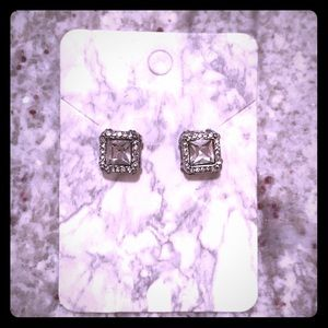 Stacked Princess Cut Cubic Zirconia Earrings